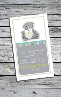 invitación invitation babyshower mauricio party fiesta bear teddy trendy
