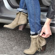Sam Edelman Louie Fringe Festival Booties *WORN ONCE Sam Edelman Louie Fringe Festival Booties in Beige | size 8.5 with lightly a distressed look and minimal wear on soles - original price tag still on!!!! Sam Edelman Shoes Ankle Boots & Booties