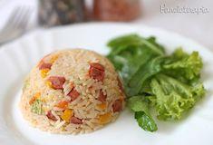 PANELATERAPIA - Blog de Culinária, Gastronomia e Receitas: Arroz com Calabresa e Vegetais