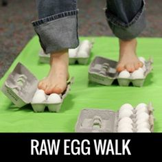 Raw Egg Walk - Youth Ministry Ideas - games - easter - eggs