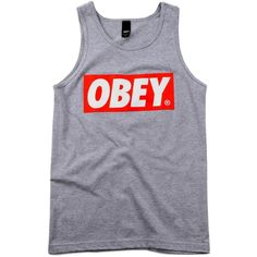 Obey Clothing Bar Logo Tank Top ❤ liked on Polyvore