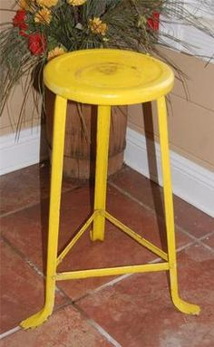 Vintage Metal Industrial Shop Factory Stool Chair | eBay