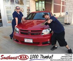https://flic.kr/p/KBw8PZ | Happy Anniversary to Justin & Liz on your #Dodge #Avenger from Kathy Parks at Southwest KIA Rockwall! |…
