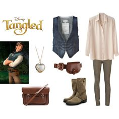 Inspired by Flynn Rider Flynn Rider, Disney Tangled, Fan, Inspired, Shoe Bag, My Style, Cute, Polyvore, How To Wear