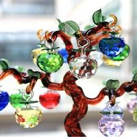 Material: Artificial crystal Size: 3CM Color: red, pink, blue, green, purple, yellow, Applicable spa