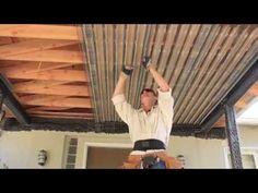 Cheap Pergola For Sale Patio Ceiling Ideas, Under Deck Ceiling, Porch Ceiling, Metal Ceiling, Corrugated Tin Ceiling, Corrugated Metal, Under Deck Roofing, Patio Under Decks, Under Deck Landscaping
