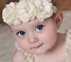 1000 images about tocados para ni as on pinterest - Tocados para bebes ...