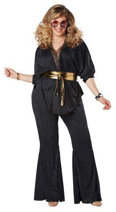 Plus Size Women's Disco Dazzler 70s Costume - Candy Apple Costumes