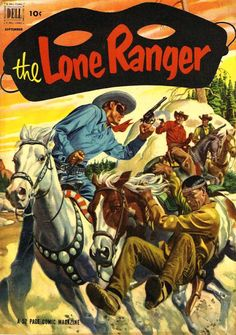 Davy Crockett's Almanack of Mystery, Adventure and The Wild West: Comic Gallery: THE LONE RANGER Painted Covers (1952)