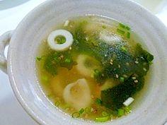 「10分でできる!!ちくわ*わかめの中華スープ✿」10分でできる簡単スープです♫簡単なのにおいしい!!卵を入れてもいいですよーー❤【楽天レシピ】