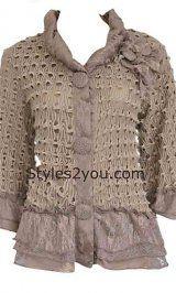 Farb-und Stilberatung mit www.farben-reich.com - Pretty Angel Clothing Lady Clarissa Cardigan in Brown