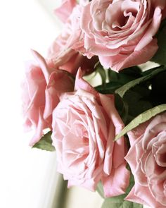Wedding Bouquet of Pink Roses in Sunlight  Romantic by LaylaArt