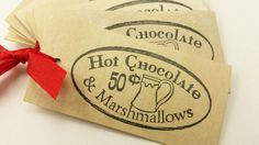 Christmas Tags Hot Chocolate and Marshmallows by LazyDayCottage