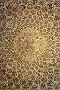 Isfahan Lotfollah mosque ceiling
