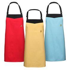 Star Trek Starfleet Uniform Aprons $24.99