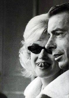 Marilyn Monroe & Joe Dimaggio at the Yankee Stadium 1961