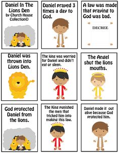 Daniel In The Lions Den Mini Book Printable. Free Bible Sunday School Crafts.