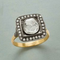 Humor 925 Sterling Silver Antique Rose Cut Polki Victorian Vintage Real Diamond Ring Fine Jewelry