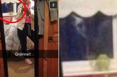 IRISH GHOST PHOTO BOMB! Grainne Dowdall's sister Sinead explained that the 14-year-old was just sending a standard picture to her friend from an upstairs bedroom in their home when the creepy presence was spotted.  It looks like a ghostly female figure is peering in the window as the picture is being taken, reports the Irish Mirror.