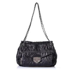 Prada Nappa Gaufre Shoulder Handbag Purse Black