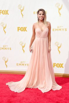 TV personality Stephanie Bauer attends the 67th Annual Primetime Emmy Awards at Microsoft Theater on September 20, 2015 in Los Angeles, California.
