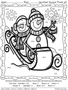math worksheet : winter math  literacy print and go 2nd grade ccss  mathematics  : Snowman Math Worksheets