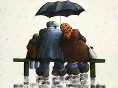 Artist: Alexander Millar Title: Seasons In The Sun Medium: Giclee on Paper Edition Copies: 195 Image Size: 20 x 15 Finish: Mounted Umbrella Art, Under My Umbrella, Old Lady Dancing, Norman Cornish, Seasons In The Sun, West Coast Scotland, Art Addiction, Painting People, Watercolor Cards