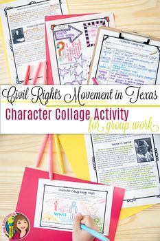 Civil Rights Leaders in Texas Readings and Group Project | TpT
