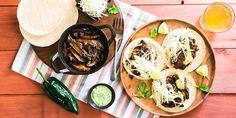 Portobello Fajitas with Black Beans & Poblano Crema