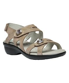 This Champagne Foil Cheryl Leather Sandal - Women is perfect! #zulilyfinds