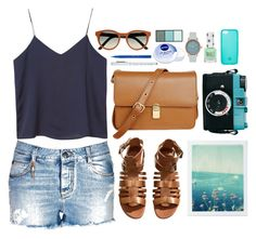 """""""Cut-Off and Free"""" by vogue-breakfast ❤ liked on Polyvore featuring Ermanno Scervino, Monki, The Row, Retrò, H&M, Lomography, Void, Nivea, Topshop and Shiseido"""