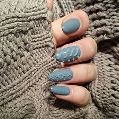 cable knit - The latest look in manicure fashion is cable knit nail art. This super cozy style is designed to keep nails looking winter-ready with a sweater-lik. Nail Design Spring, Winter Nail Designs, Christmas Nail Designs, Easy Nails, Simple Nails, Nail Art Designs, Nails Design, New Nail Trends, Nailed It