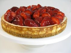 Fresh Strawberry Pie Topped Cheesecake…The Ultimate Skinny Dessert with Weight Watchers Points | Skinny Kitchen
