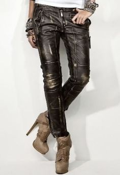Rock'n'Roll is in the Soul: Vintage style distressed leather pants