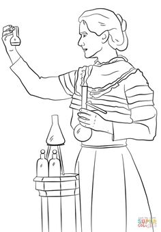 Marie Antoinette Coloring Page Craft or Poster with Mini