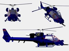 blue thunder helicopter blueprints - Google Search