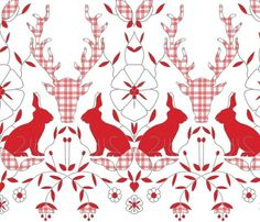 Scando rabbits plaid by Holli Zollinger on Spoonflower