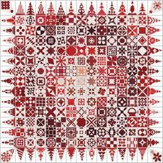 Gratis te downloaden borduurpatroon Dear Jane. - Hardanger Atelier Nelly van Es