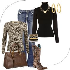 Animal Print Outfit by mahaden on Polyvore featuring Karen Millen, Modström, BKE, Marc by Marc Jacobs, Raxevsky, Kate Spade and Wallis