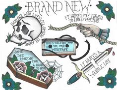 Brand New flash tattoo sheet