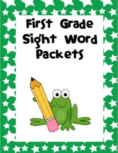 Help ensure reading and writing success with these 15 reproducible sight word packets that teach the first grade Dolch words plus several other wor...