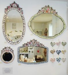 The beautiful vintage crockery mosaics of Anna Tilson - very lucky to have one…