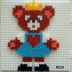 Teddy-princess Hama perler pattern