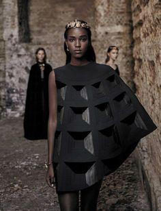 Leila Nda, Sofia Tesmenitskaya, Grace Simmons and Yana Van Ginneken in Vogue Italia September 2015 by Fabrizio Ferri 3