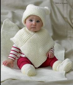 Bebek örgü panço modeli yapılışı http://www.canimanne.com/bebek-orguleri-modelleri-panco.html