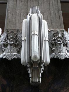 Art deco light fixture on the AIG Building, New York