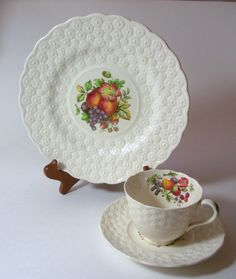Copeland Spoke Luncheon 3 piece set, Made in England, Signed and Numbered by CraftyMJC on Etsy