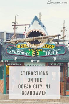 There are so many attractions on the Ocean City New Jersey boardwalk down on the Jersey Shore for kids! Take a look! #vacation #travel #travelblog #golf #beautiful #writing #blogging #tip #summer #summervibes #beach #sunday