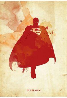 Vintage Superhero Poster Set for 60 dollars by 2ToastDesign