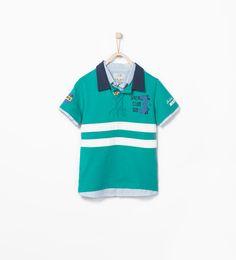Imagen 1 de Polo motivos náuticos con camisa de Zara
